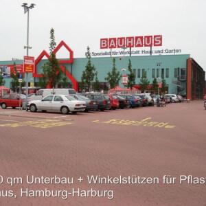 Pflasterung Bauhaus, Hamburg-Harburg