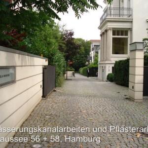 Entwässerung und Pflasterarbeiten, Elbchaussee Hamburg