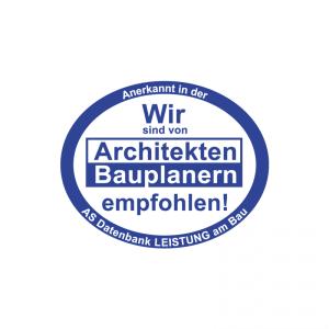 Von Architekten und Bauplanern empfohlen